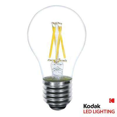 40W Equivalent Warm White A19 Clear Filament Dimmable LED Light Bulb