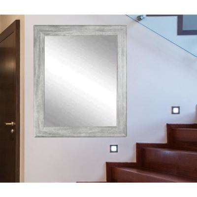 Smooth Rectangle Gray Barnwood Decorative Wall Mirror