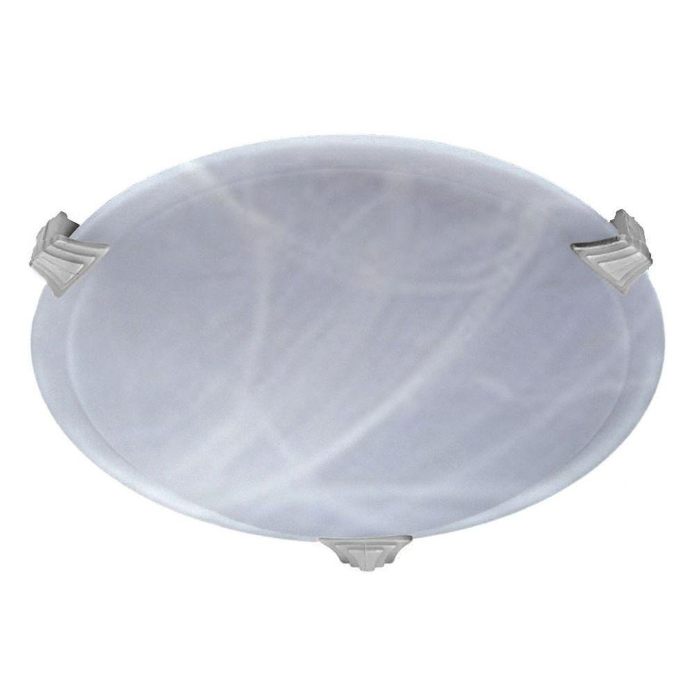 Contemporary Beauty 1-Light Polished Chrome Halogen Ceiling Flush Mount