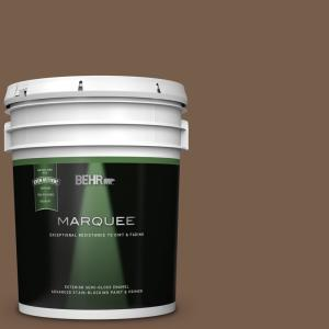 Behr Marquee 5 Gal Pmd 108 Double Chocolate Semi Gloss Enamel Exterior Paint And Primer In One 545305 The Home Depot