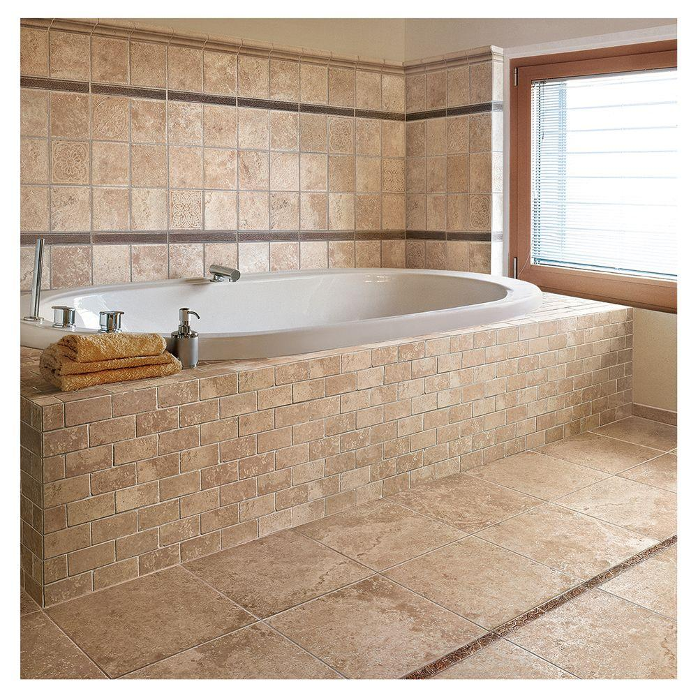 Marazzi Montagna Cortina 3 In X 12 Porcelain Bullnose Floor And Wall Tile 0 25 Sq Ft Piece