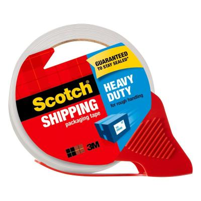 Scotch 1.88 in. x 54.6 yds. Heavy-Duty Shipping Packaging Tape with Dispenser