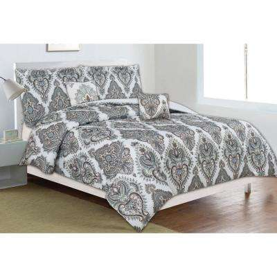 Classic Trends Taupe/Teal 5-Piece Full/Queen Comforter Set