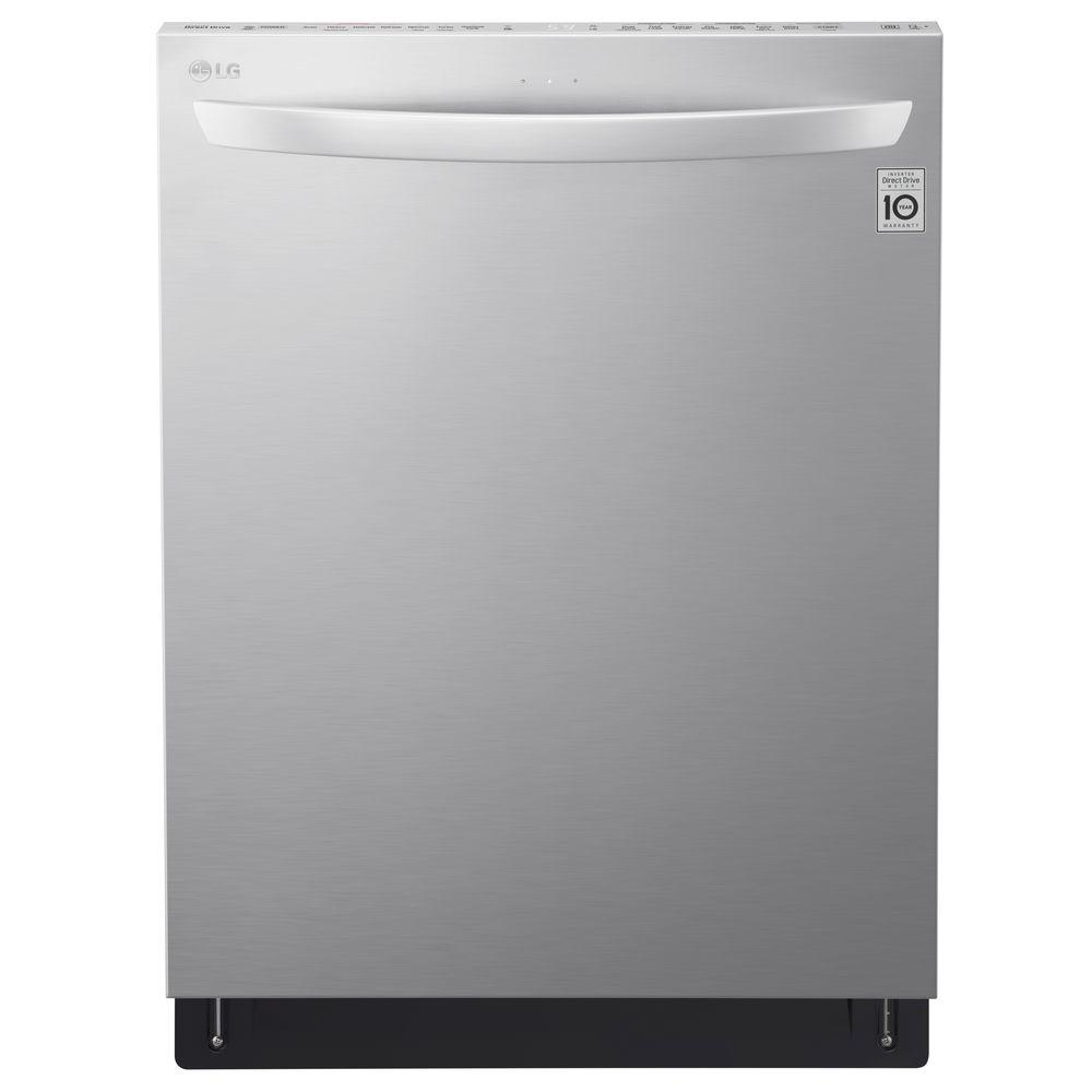 Top Control Tall Tub Smart Dishwasher with Wi-Fi Enabled in Stainless Steel  with Stainless ...