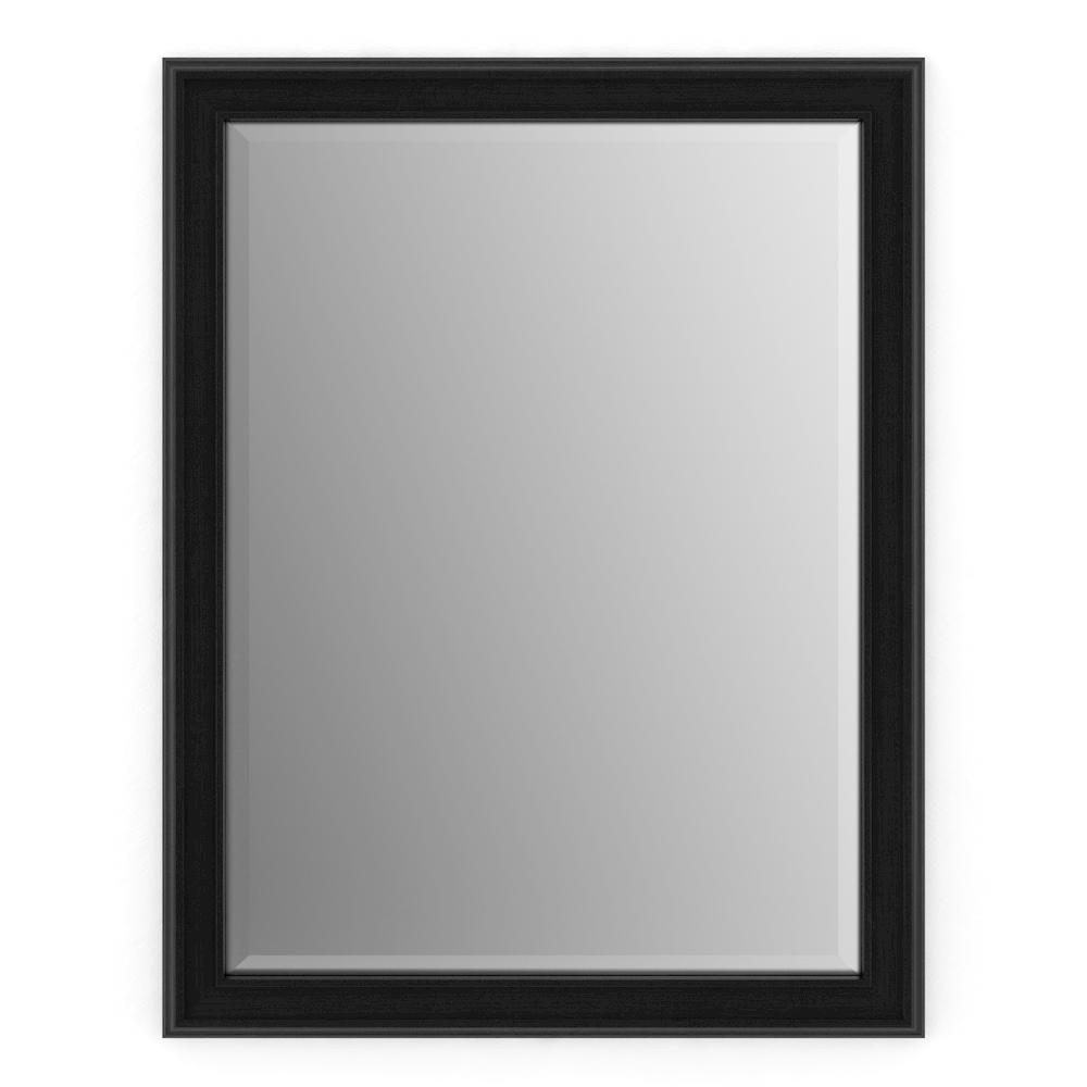 Delta 23 in. x 33 in. (S2) Rectangular Framed Mirror with Deluxe Glass and Float Mount Hardware in Matte Black