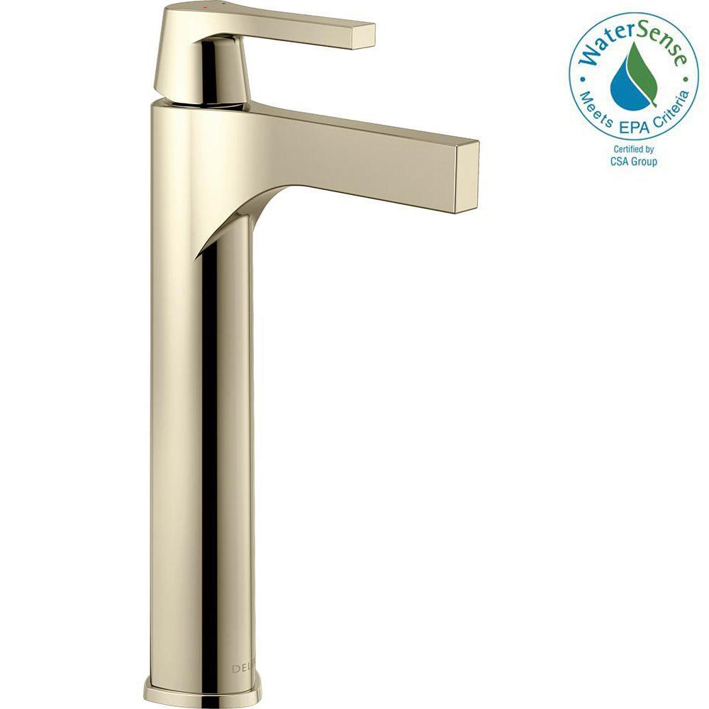 Zura Single Hole Single-Handle Vessel Bathroom Faucet in Polished Nickel