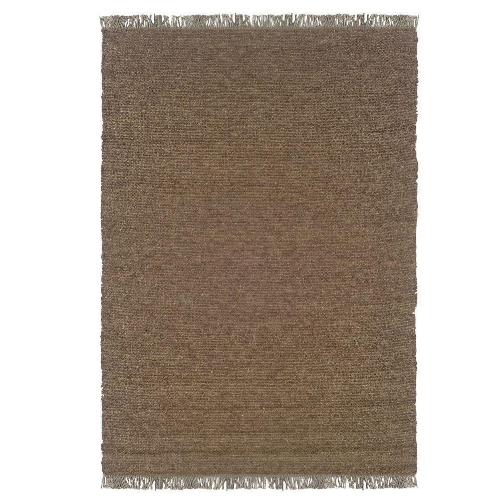 Linon home decor verginia berber cocoa mushroom 5 ft 3 in x 7 ft 6 in indoor area rug rug - Rugs and home decor decor ...