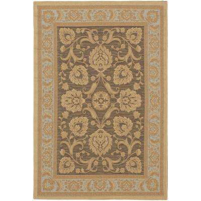 Versailles Antique Dark Brown/Light Yellow 3 ft. x 5 ft. Area Rug