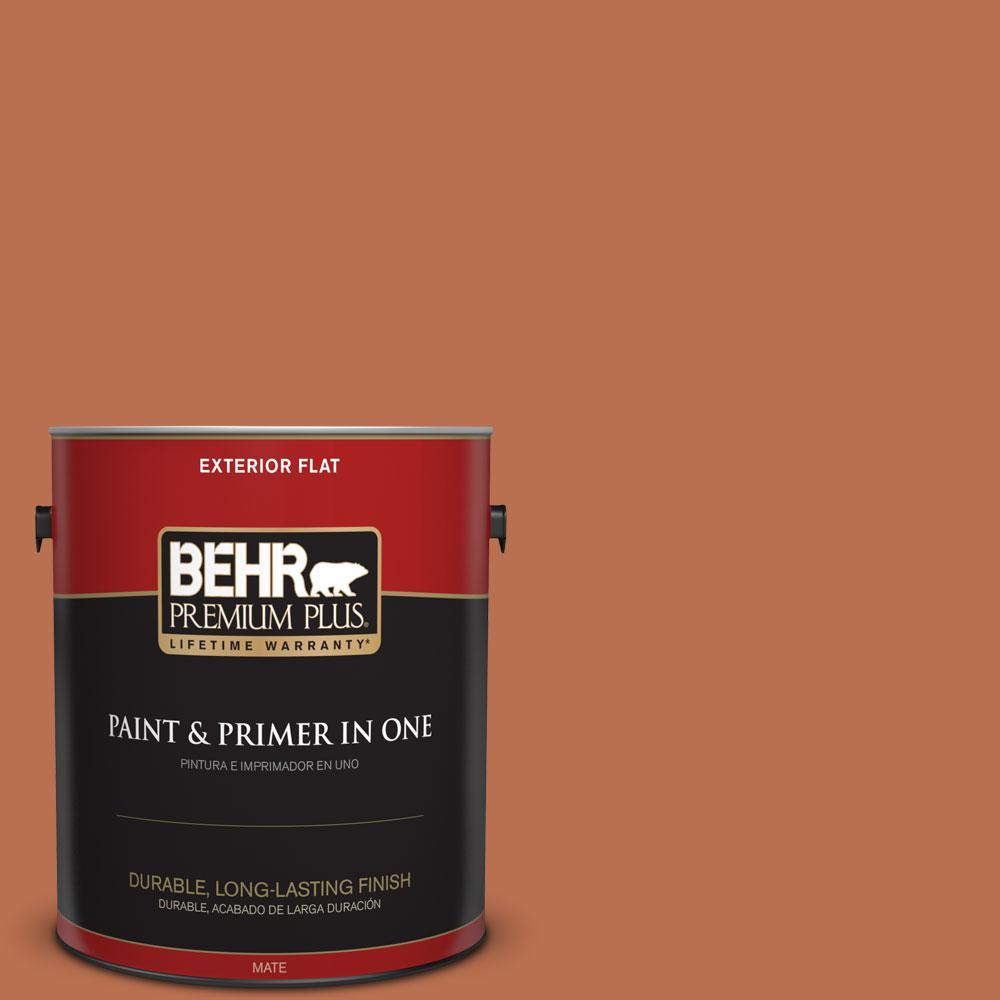 BEHR Premium Plus 1-gal. #230D-6 Iced Tea Flat Exterior Paint
