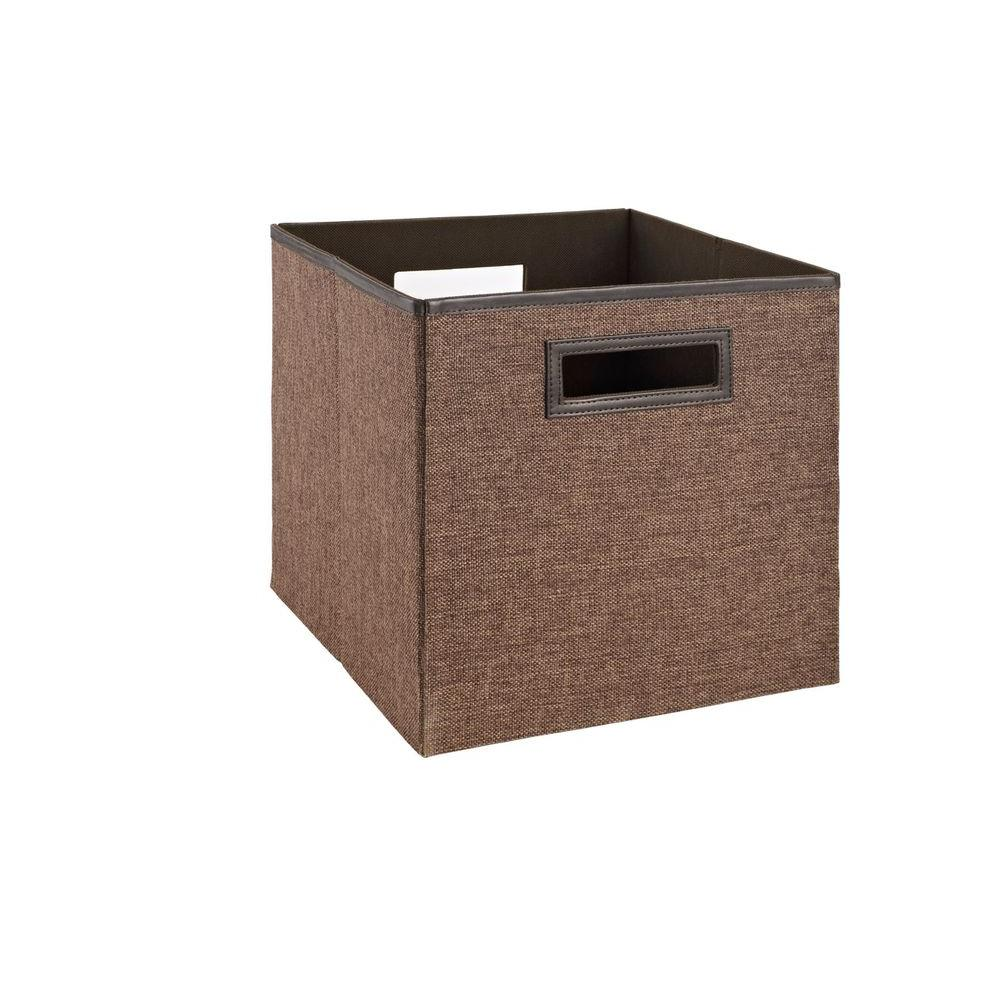 Home Decorators Collection 11 In Cocoa Fabric Bin 37970 The Home Depot