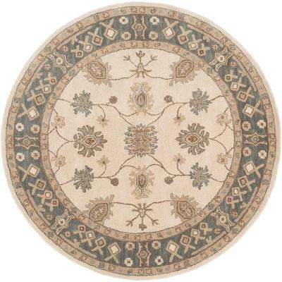 Middleton Willow Gray 8 ft. x 8 ft. Round Indoor Area Rug