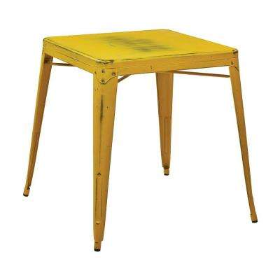 Bristow Antique Yellow with Blue Specks End/Side Table