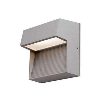 Troy Gray Outdoor Integrated LED Wall Mount Sconce