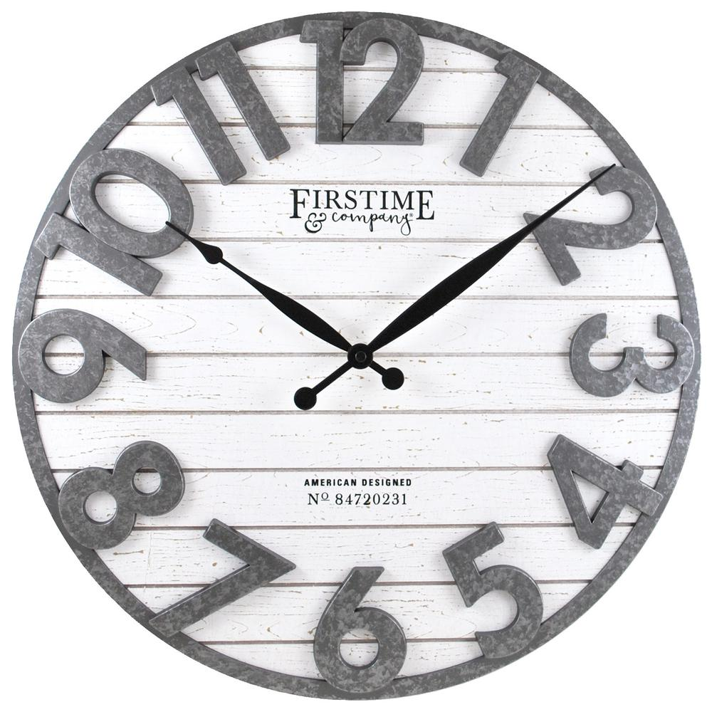 Firstime Co Firstime Co Black Sawyer Shiplap Wall Clock 40235 The Home Depot