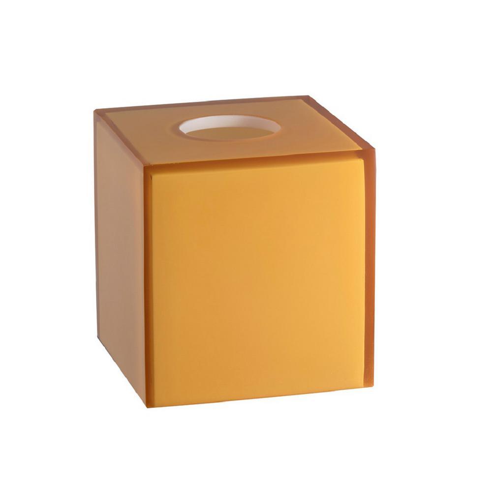 Glacier Frost Tissue Box Cover in Amber