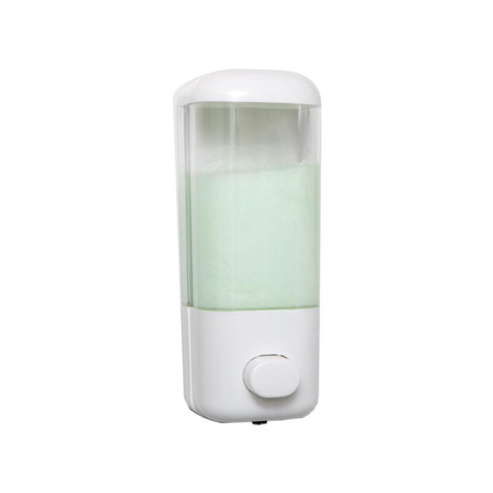 home basics wall mount soap dispenser in white