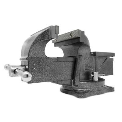 6 in. Heavy-Duty Cast Iron Bench Vise with Swivel Base