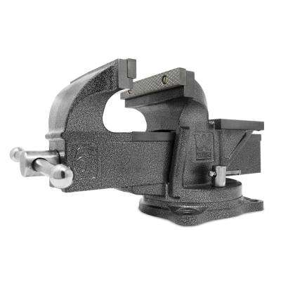 6 in  Heavy-Duty Cast Iron Bench Vise with Swivel Base