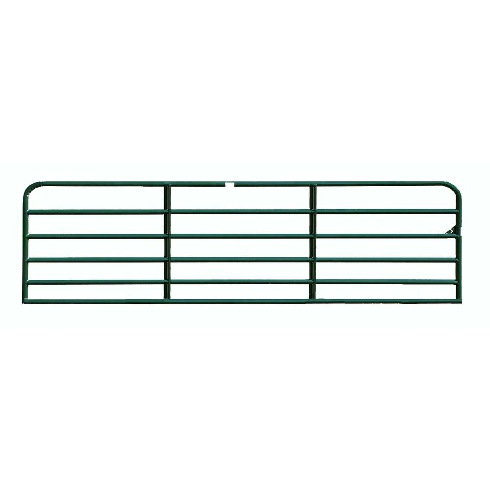 Big Valley 16 ft. x 4 ft. 2 in. Green Powder-Coated 6-Tube Gate