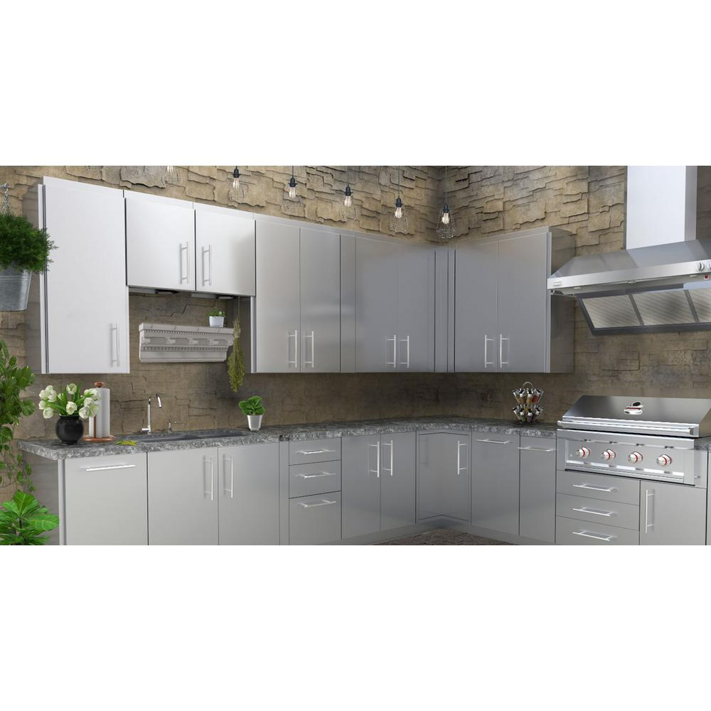 Sunstone Stainless Steel 30 in. x 42 in. x 14 in. Outdoor Kitchen Cabinet  Full Height Double Door Cabinet with 4-Shelves