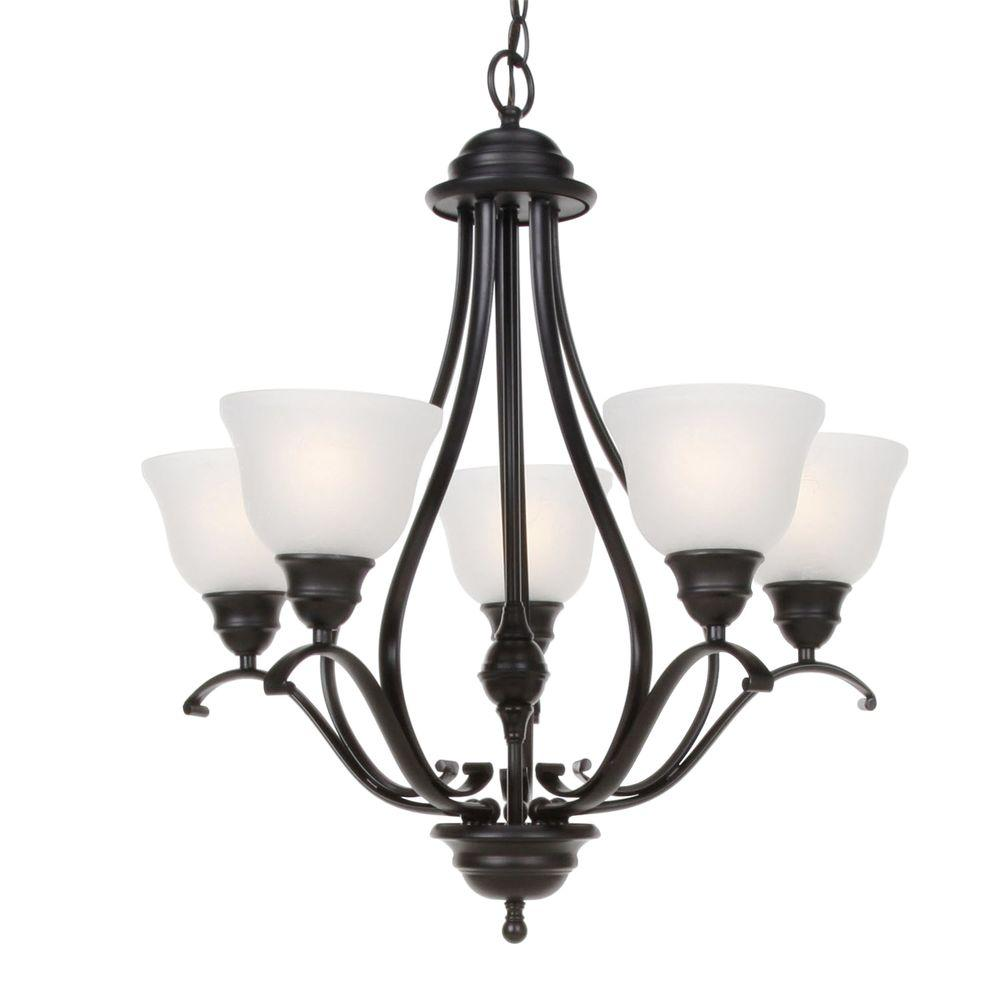 Linda 5-Light Black Chandelier