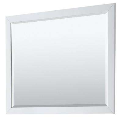Daria 46 in. W x 33 in. H Framed Wall Mirror in White