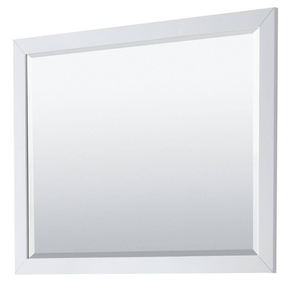 Daria 46 in. W x 36 in. H Framed Rectangular Bathroom Vanity Mirror in White