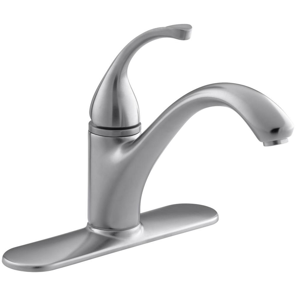 Forte Single-Handle Standard Kitchen Faucet in Brushed Chrome