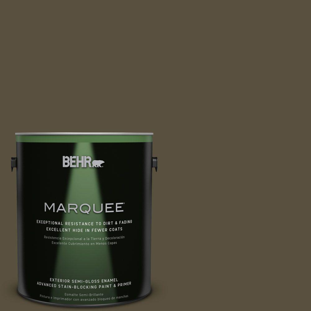 BEHR MARQUEE 1-gal. #S-H-730 Eagle Rock Semi-Gloss Enamel Exterior Paint