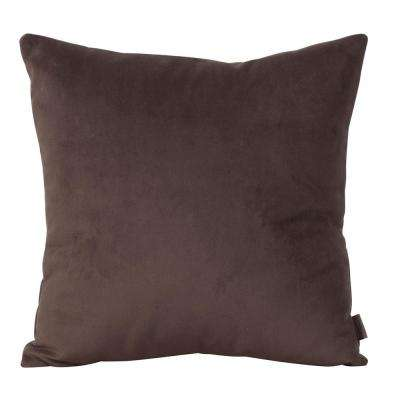 Bella Brown Chocolate 16 in. x 16 in. Decorative Pillow