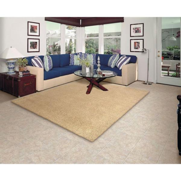 Natco Twist Natural 6 Ft X 8 Ft Bound Carpet Remnant St608 The Home Depot