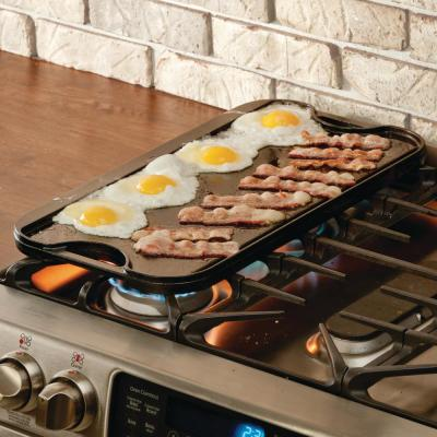 Large Cast Iron Reversible Grill Griddle