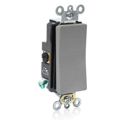 Decora Plus 20 Amp 120/277-Volt Antimicrobial Treated 3-Way Rocker Switch,  Gray