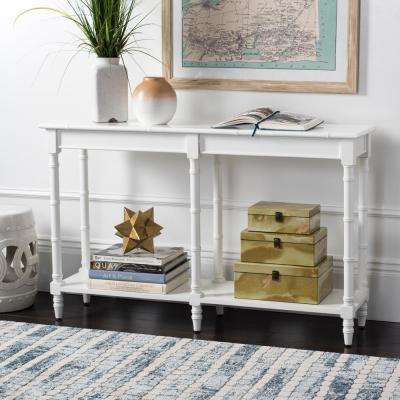 Noam White Bamboo Console Table