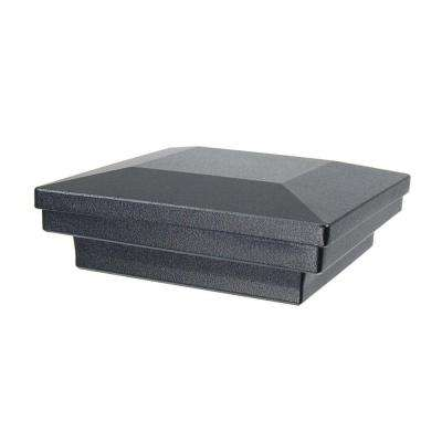 3.5 in. x 3.5 in. Black Sand Aluminum Flat Pyramid Post Cap