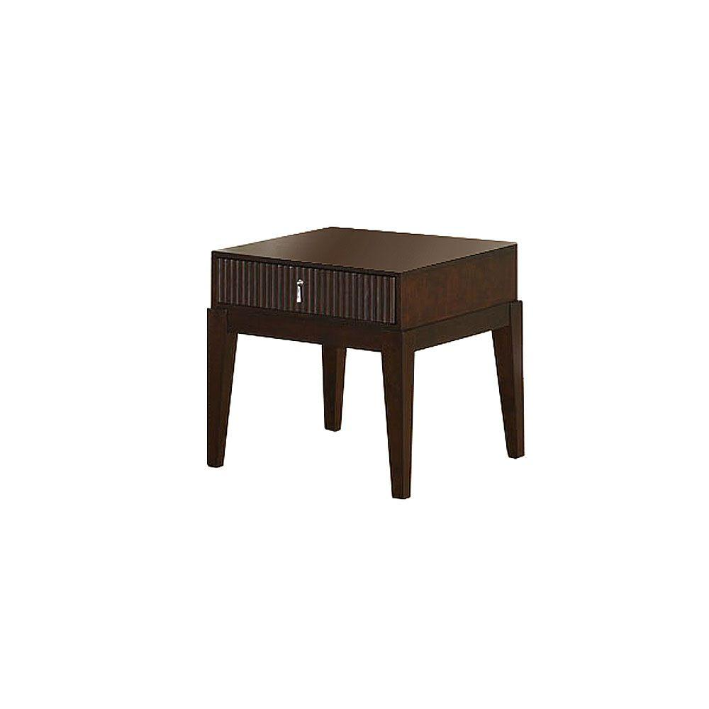 Furniture of America Torino Dark Walnut End Table-DISCONTINUED