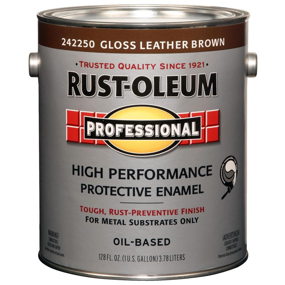 High Performance Protective Enamel Gloss Leather Brown Oil