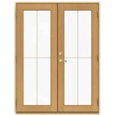 59.5 in. x 79.5 in. W-2500 French Vanilla Left-Hand Inswing French Wood Patio Door