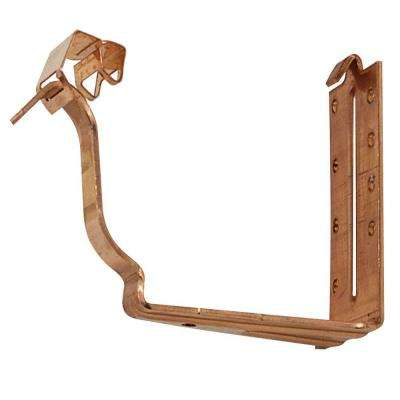 6 in. K-Style Copper 40K Fascia Hanger with Snap Strap