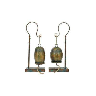 Kyrin Multicolored Metal Bells with Stand