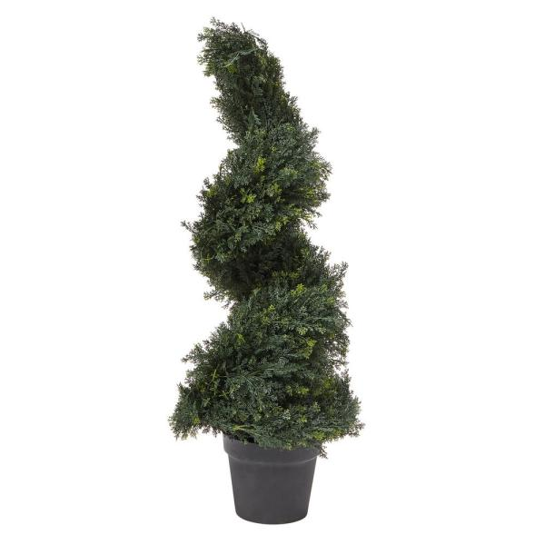 36 in. Artificial Cypress Spiral Topiary