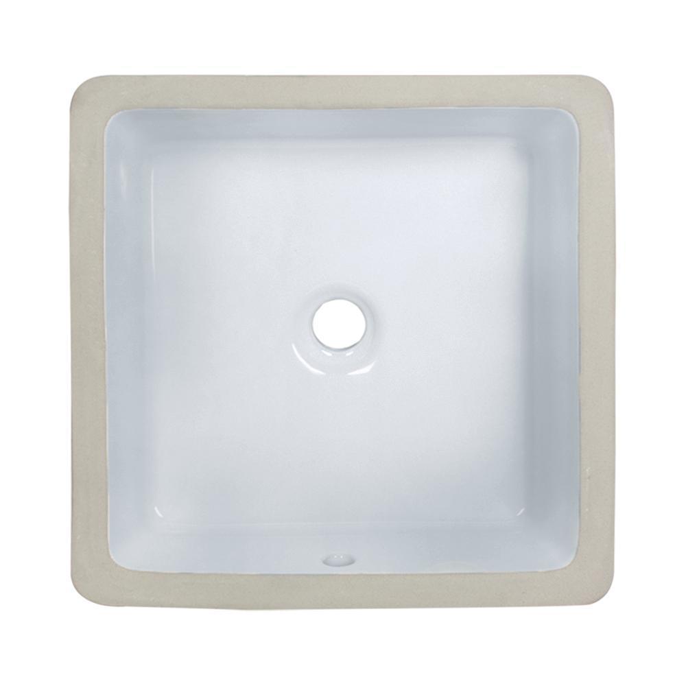 Undermount Porcelain Bathroom Sink in White