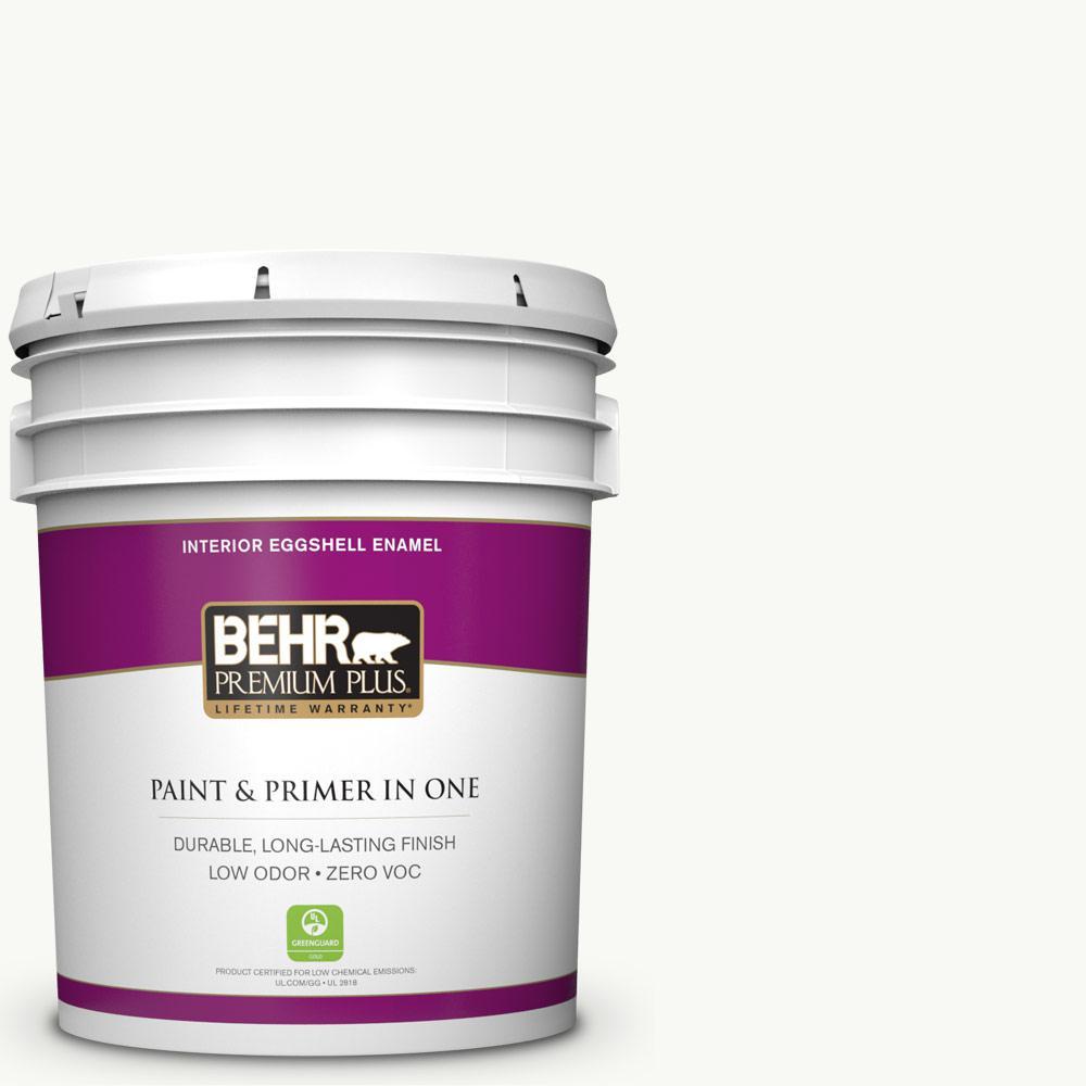 5-gal. #PR-W15 Ultra Pure White Eggshell Enamel Interior Paint