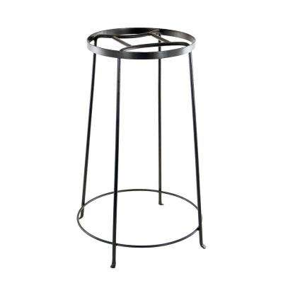 24 in. Tall Roman Bronze Powder Coat Iron Indoor/Outdoor Diamond Shaped Argyle Plant Stand IV