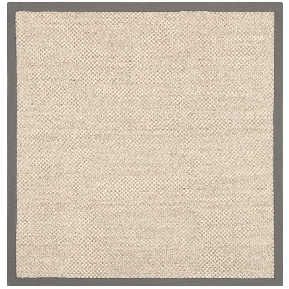 Safavieh Natural Fiber Marble/Grey 4 ft. x 4 ft. Square Area Rug