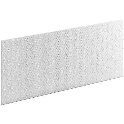 Choreograph 0.3125 in. x 60 in. x 28 in. 1-Piece Shower Wall Panel in White with Hex Texture