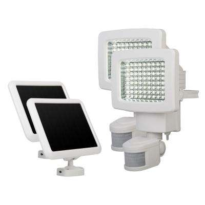 White 80-LED Solar Motion Outdoor Light (2-Pack)