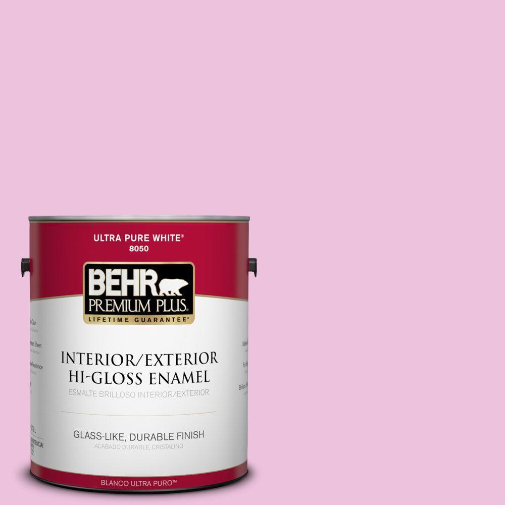 BEHR Premium Plus 1 gal. #P120-1 Starlet Pink Hi-Gloss Enamel ...