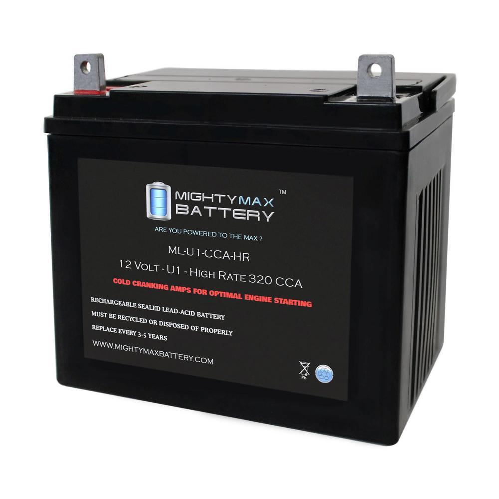 12-Volt U1 320 CCA Rechargable NB Terminal Sealed Lead Acid (SLA) Battery