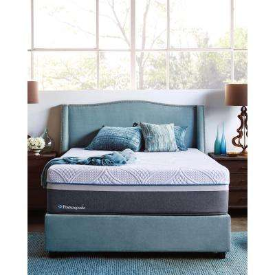 Hybrid Plush King-Size Mattress with 5 in. Low Profile Foundation